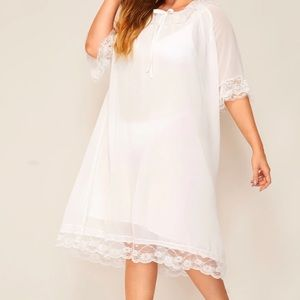 Other - Sheer Lace Trim Nightgown
